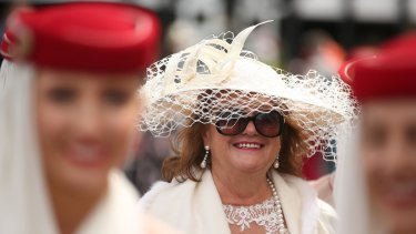 Gina Rinehart attends the Emirates Marquee on Melbourne Cup Day at Flemington Racecourse.