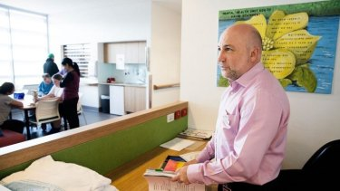 Private moments: Dr Mark Cross at Liverpool Hospital.