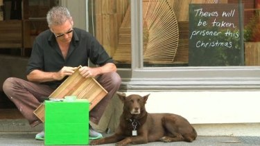 Michael Kelly and his dog Rusty are a familiar sight on Carlton's streets.