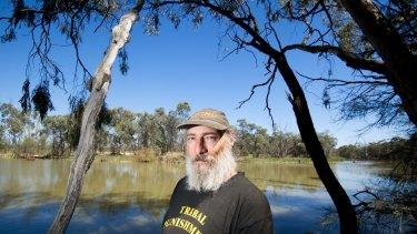 Darren Perry at the Kings Billabong near Mildura.