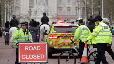Road closures in the area surrounding Buckingham Palace.
