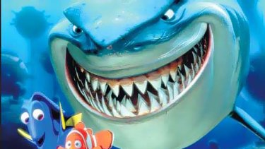 Attack ... the shark in <i>Finding Nemo</i> has been highlighted as disturbing.