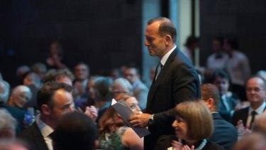 Tony Abbott at the Prime Minister's Literary Awards.