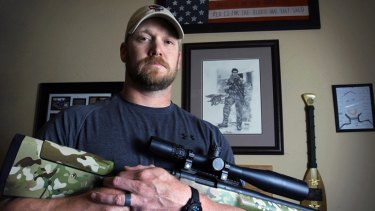Shot dead ... former Navy SEAL Chris Kyle, photographed in Texas in April 2012.