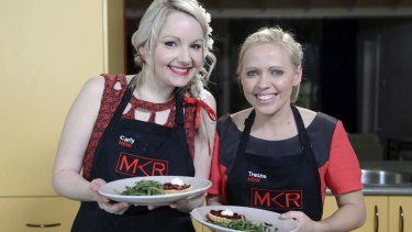 A question of timing ... Carly and Tresne gave an interview to a Seven-owned magazine revealing they are in a relationship despite <i>MKR</i> saying they requested not to be outed on the show.