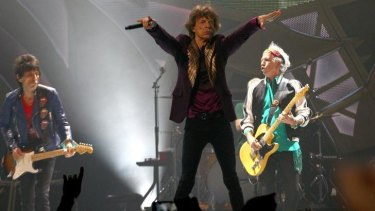 Get off of his cloud: Mick Jagger struts at Perth Arena.