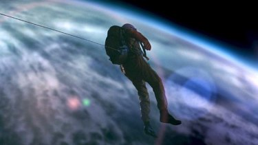 Alone … Gunner Wright plays Lee Miller, an astronaut stranded in space.