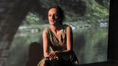 Powerful piece ... Kim Vercoe in her solo show.