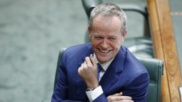 Opposition Leader Bill Shorten during question time at Parliament House in Canberra on Wednesday.