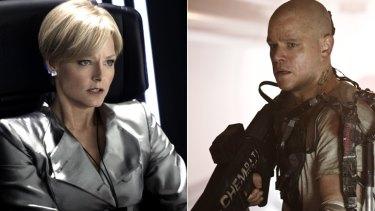 Leanings: Jodi Foster and Matt Damon in <em>Elysium</em>.