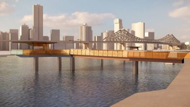 The new Riverwalk will take people further out into the river for the majority of the walkway.