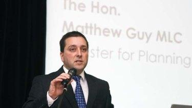 Minister for Planning Matthew Guy.