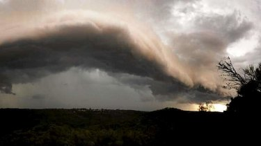 A line of storms moves into Sydney this week.