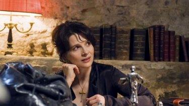 Flirtatious road trip ... Juliette Binoche does her best to help her director and her co-star.