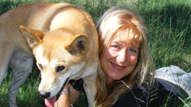 Fined $40,000 and given a nine-month jail term, suspended for three years ... Jennifer Parkhurst with a dingo at a sanctuary.