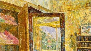 In depth ... Grace Cossington Smith's <em>Interior with wardrobe mirror</em> (1955).
