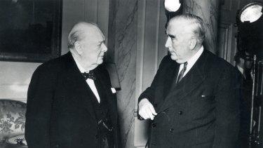 Winston Churchill and Robert Menzies in 1941.