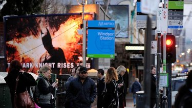 Commuters forced to wait for buses at Windsor station this morning.