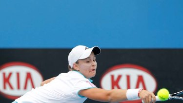 Ashley Barty during the December Showdown.