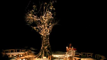 Theatre of the Senses' <i>Inhabitants</i>, for which audiences are blindfolded.