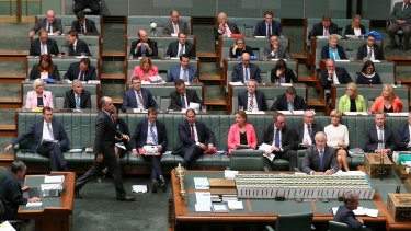Human Services Minister Stuart Robert during question time on Tuesday.