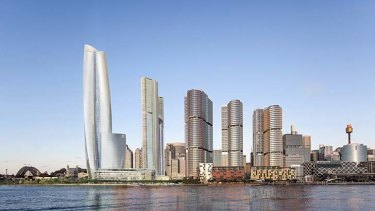 On the cards: An impression of Barangaroo.