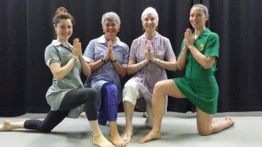 Yoga teachers Jemma Davies, Robyn Sawatzky, Sheila Hayes, and Jane Lewis.