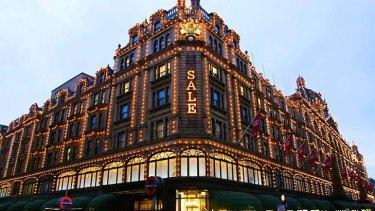 Harrods ... luxury UK department store owned by Sheikh Hamad bin Jassim Al Thani.