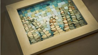 Mosaic work created by artist Helen Bodycomb.