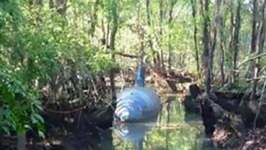 Submarine used to smuggle drugs across to the USA through Central America.