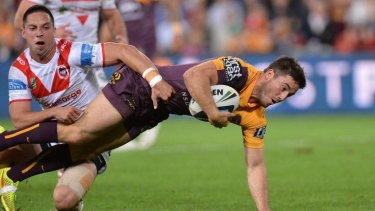 Still in the Hunt: The efforts of Broncos No.7 Ben Hunt ensured Brisbane remain in contention for a place in the finals.