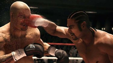 A screengrab from Fight Night Champion
