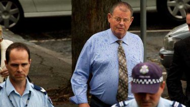 Carl's father George Williams arrives at the Geelong Courthouse.