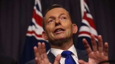 Former prime minister Tony Abbott once reneged on a deal for donations reform, but is now a firm advocate.