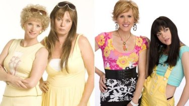From left: the original <i>Kath & Kim</i> and the US remake.