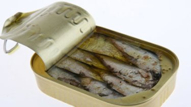 No shame in it ... Tinned fish doesn't mean poor quality is some parts of the world.