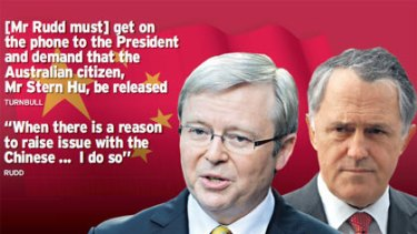 Kevin Rudd and Malcolm Turnbull.