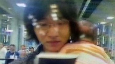 A photo of a man identified as Shigeta Mitsutoki.