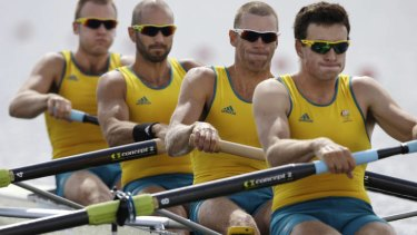 Relishing the challenge ... Drew Ginn is confident his Australian team can beat the British in the men's coxless four.