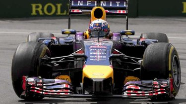 Red Bull's Daniel Ricciardo races to victory in Montreal.