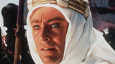 Lawrence of Arabia (1962): Peter O'Toole as T. E. Lawrence.