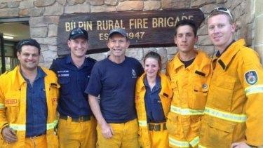 Prime Minister Tony Abbott, also an RFS volunteer with Davidson crew.