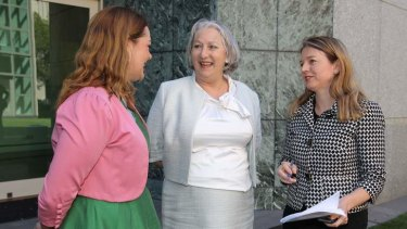 Senators Sarah Hanson-Young, Sue Boyce and Louise Pratt.