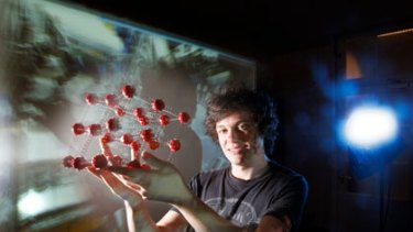 Big bang theory ... Sydney student Mark Scarcella is heading to Switzerland today to work in one of the control rooms of the Large Hadron Collider.
