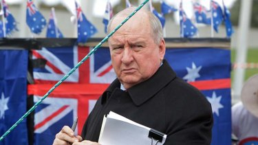 Under siege ...  Alan Jones.