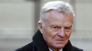 Former FIA racing chief Max Mosley arrives at the Leveson Inquiry.