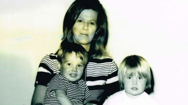 All that she is … Anna Funder (at right) with her mother and brother.