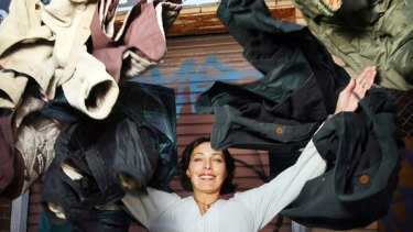 Off her back: Toni Joel, who started a program that gives coats to the homeless.