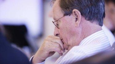 Under pressure: David Jones chairman Peter Mason.