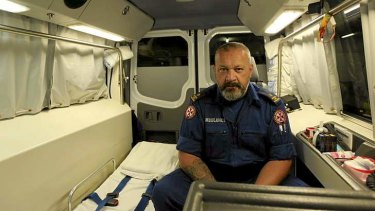 Helping hand: Intensive care paramedic Hamuera Kohu, who is the station officer at Eveleigh, says dealing with repeat callers can be frustrating but is all part of the job.